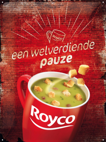 Royco metaalplaat